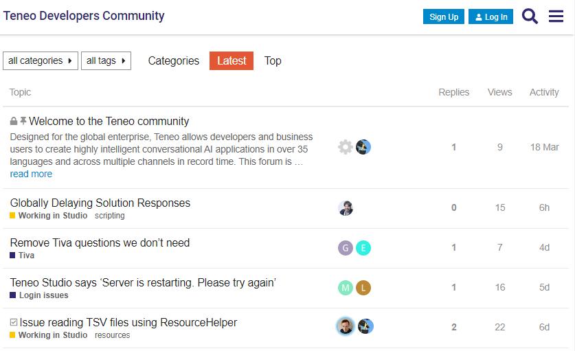 Teneo Developers community