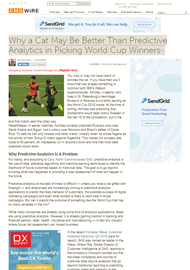 Why a Cat May Be Better Than Predictive Analytics in Picking World Cup Winners