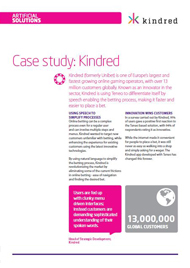 Case study: Kindred