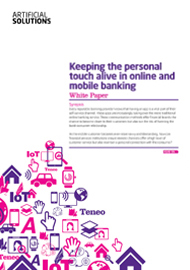 Keeping the personal touch alive in online and mobile banking