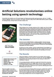 Artificial Solutions revolutionises online betting using speech technology