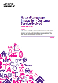 Natural Language Interaction - Customer Service Evolved