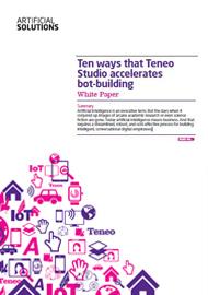 Ten ways that Teneo Studio accelerates bot-building